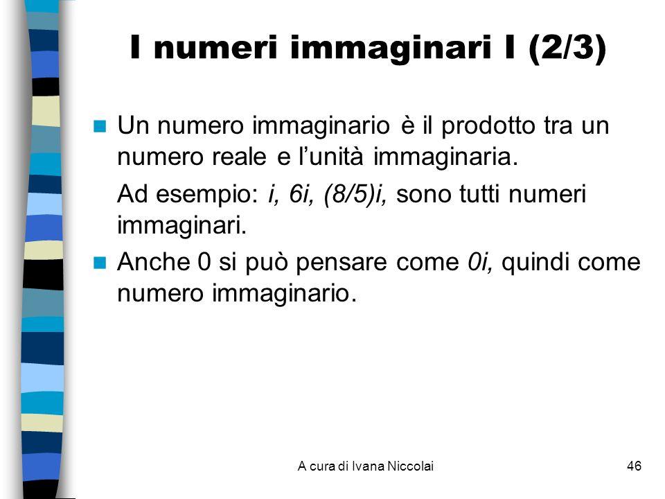I numeri immaginari I (2/3)