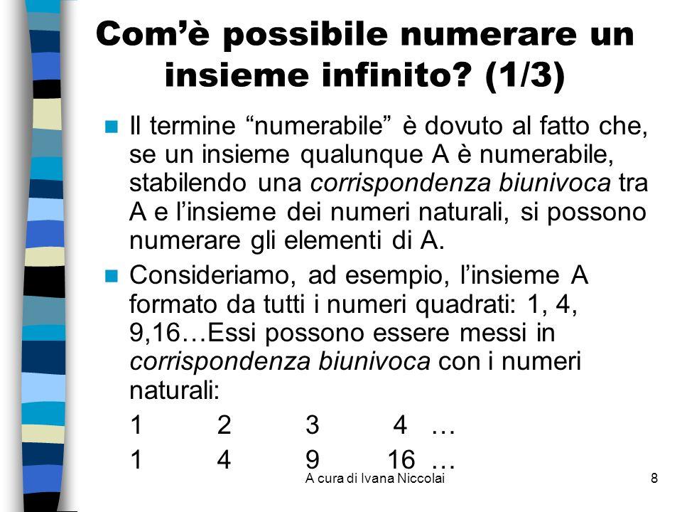 Com'è possibile numerare un insieme infinito (1/3)
