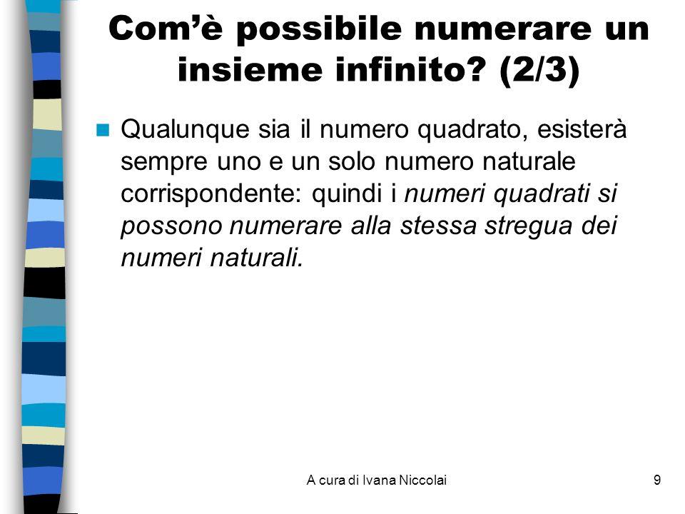 Com'è possibile numerare un insieme infinito (2/3)