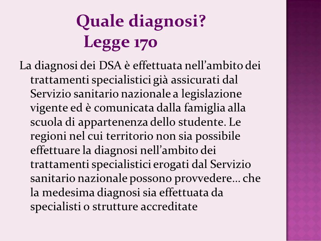Quale diagnosi Legge 170