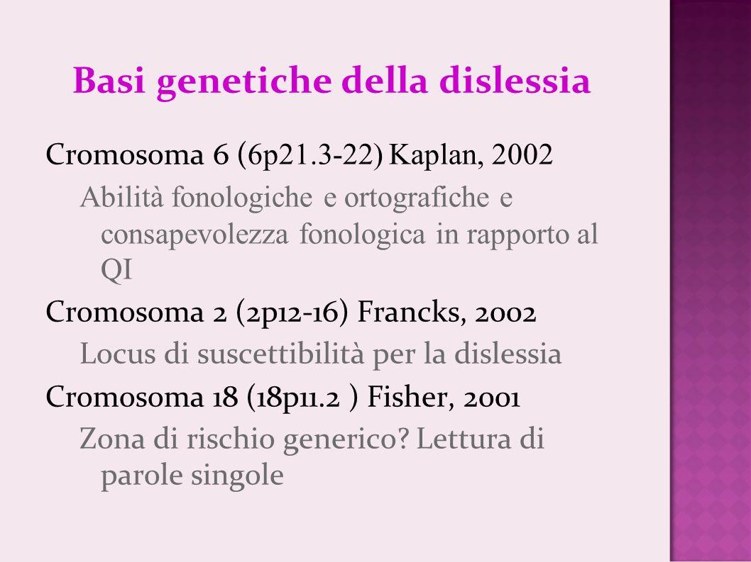 Basi genetiche della dislessia