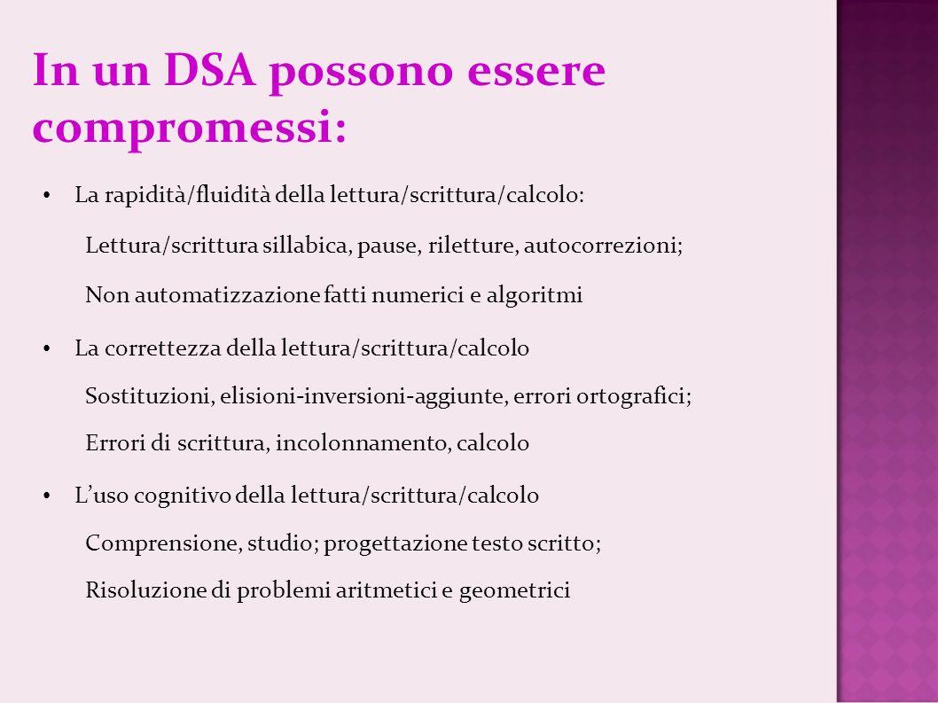 In un DSA possono essere compromessi: