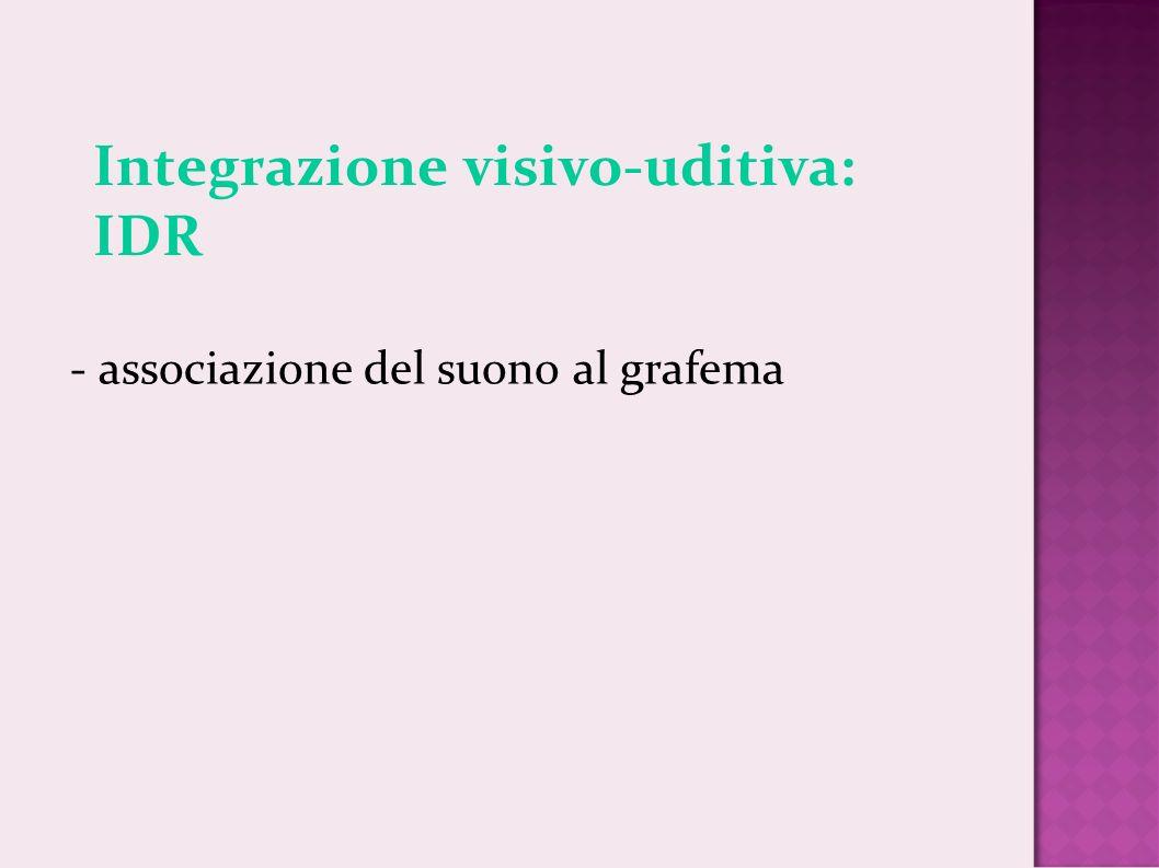 Integrazione visivo-uditiva: IDR