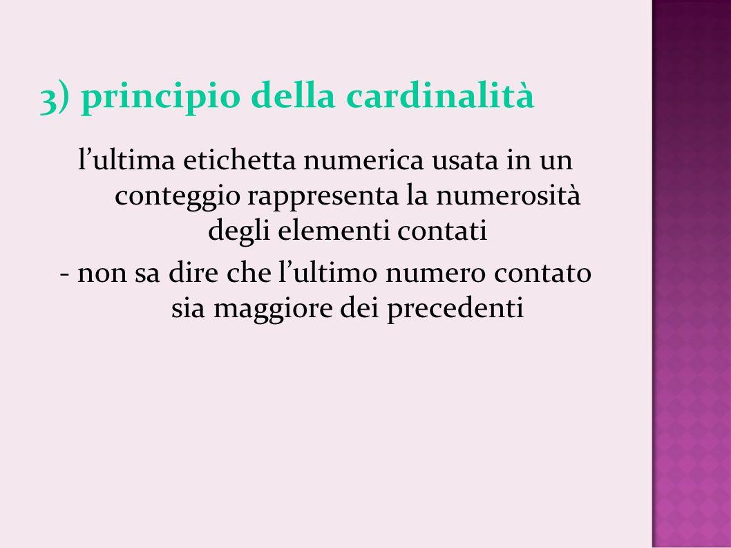 3) principio della cardinalità