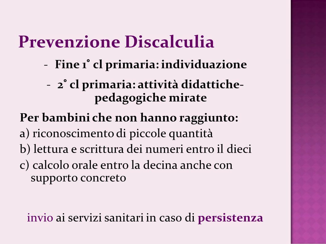 Prevenzione Discalculia