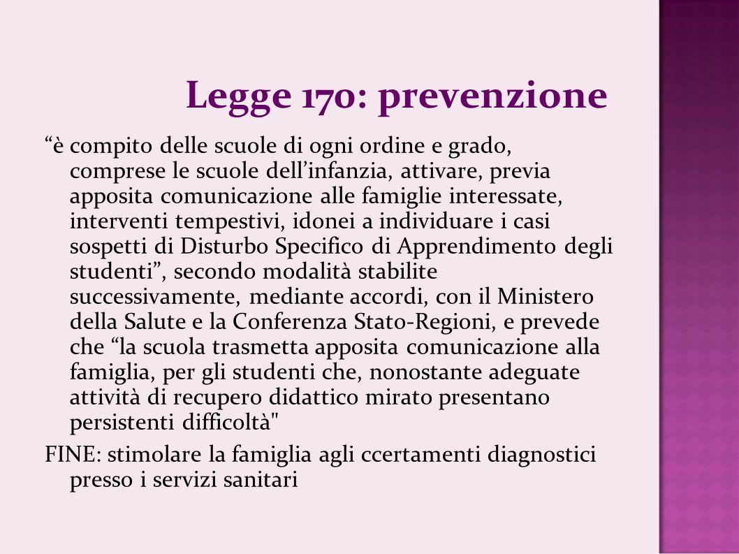 Legge 170: prevenzione