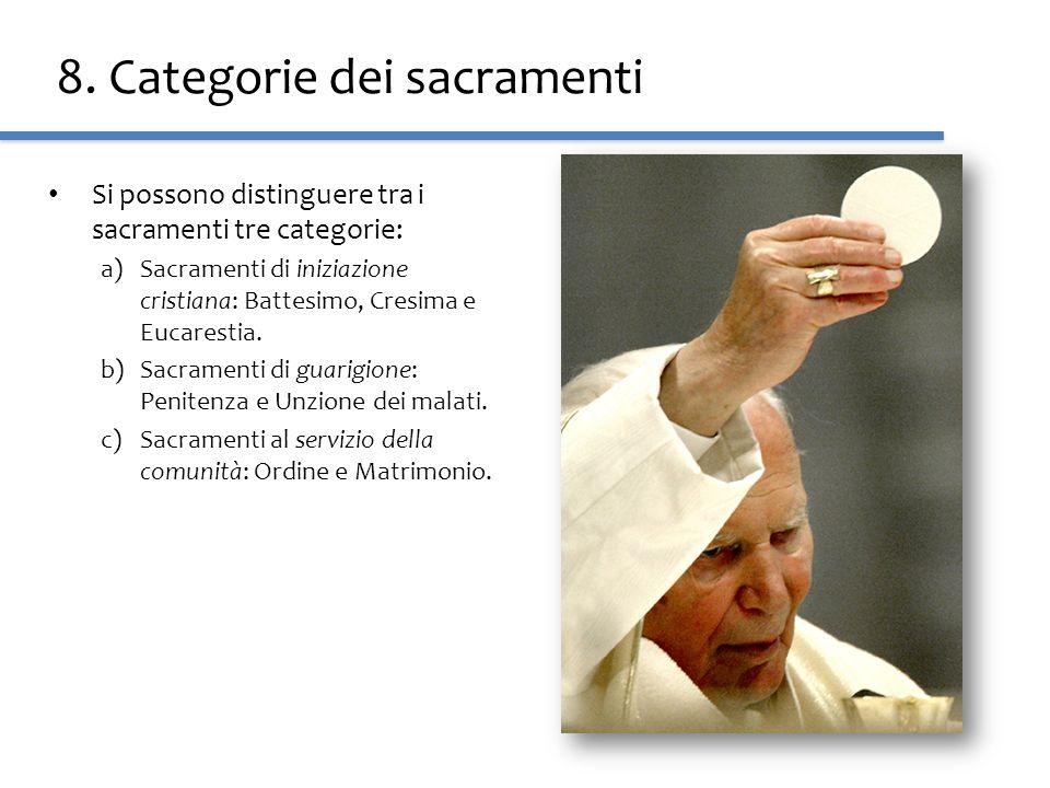 8. Categorie dei sacramenti