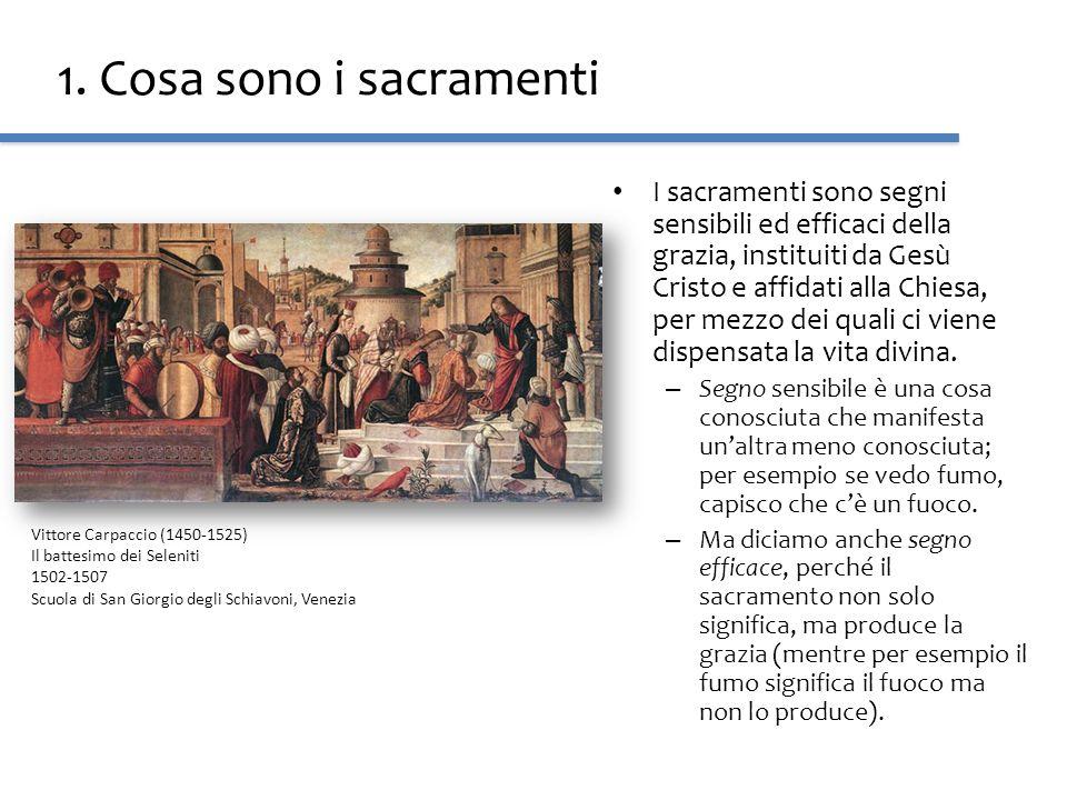 1. Cosa sono i sacramenti