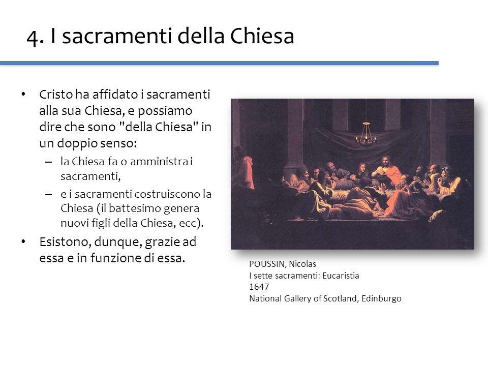 4. I sacramenti della Chiesa