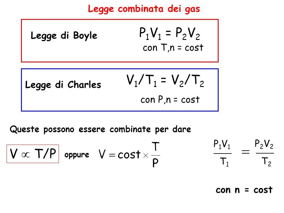 Legge combinata dei gas