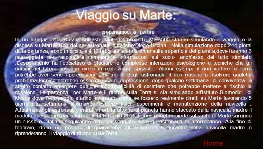 PULIAMO IL MONDO Viaggio su Marte: Home 5 prepariamoci a partire