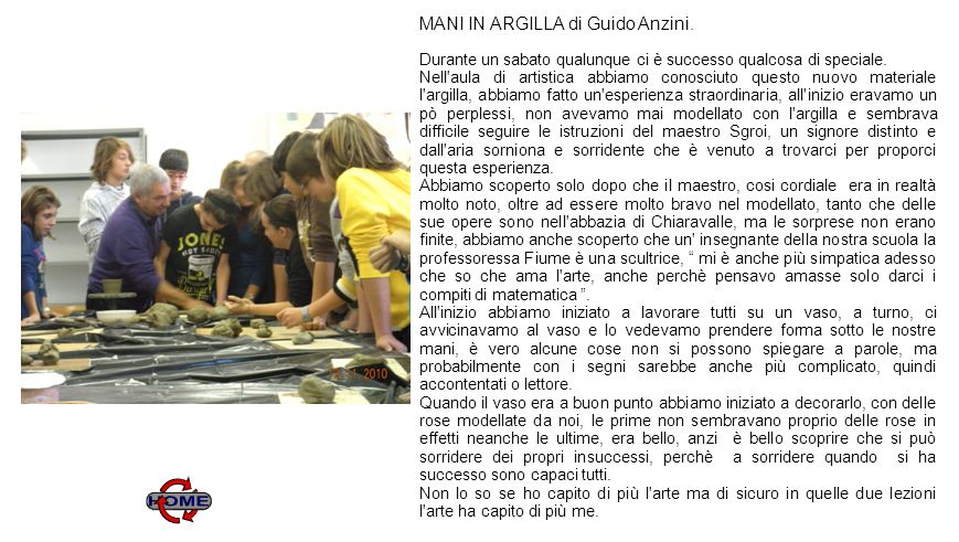 7 MANI IN ARGILLA di Guido Anzini.