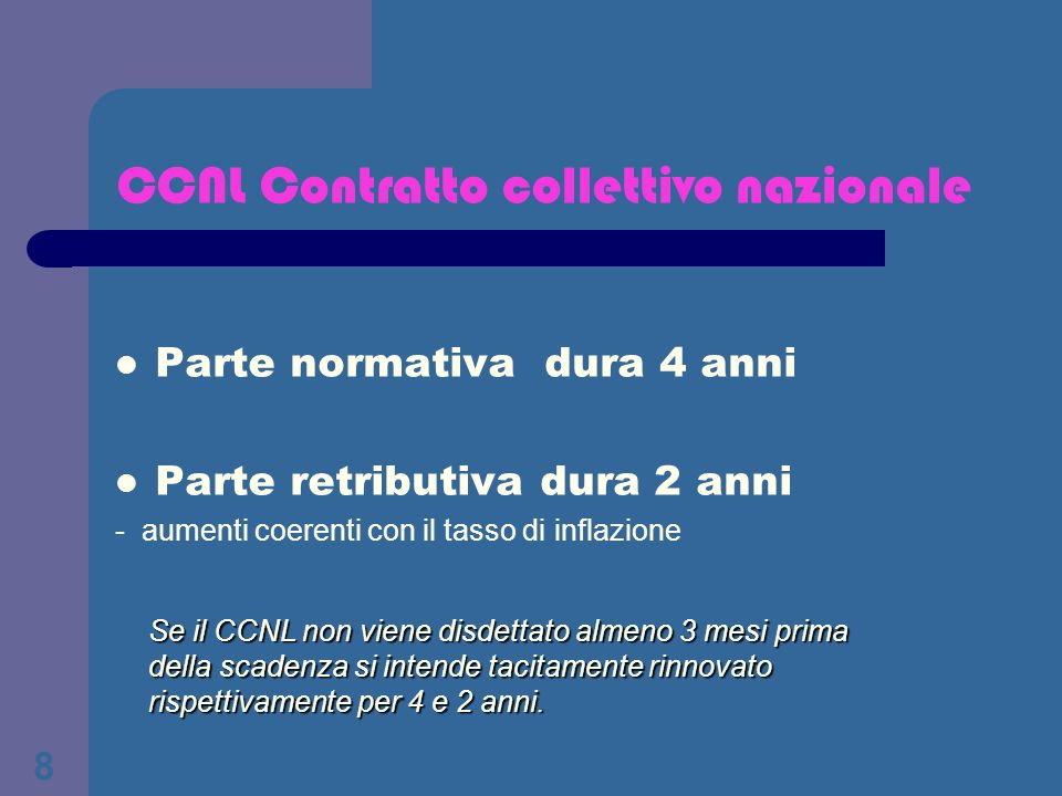 CCNL Contratto collettivo nazionale