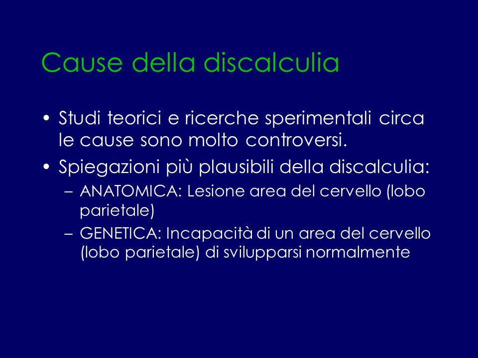 Cause della discalculia