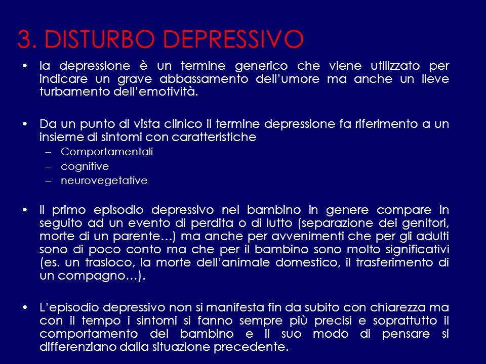 3. DISTURBO DEPRESSIVO