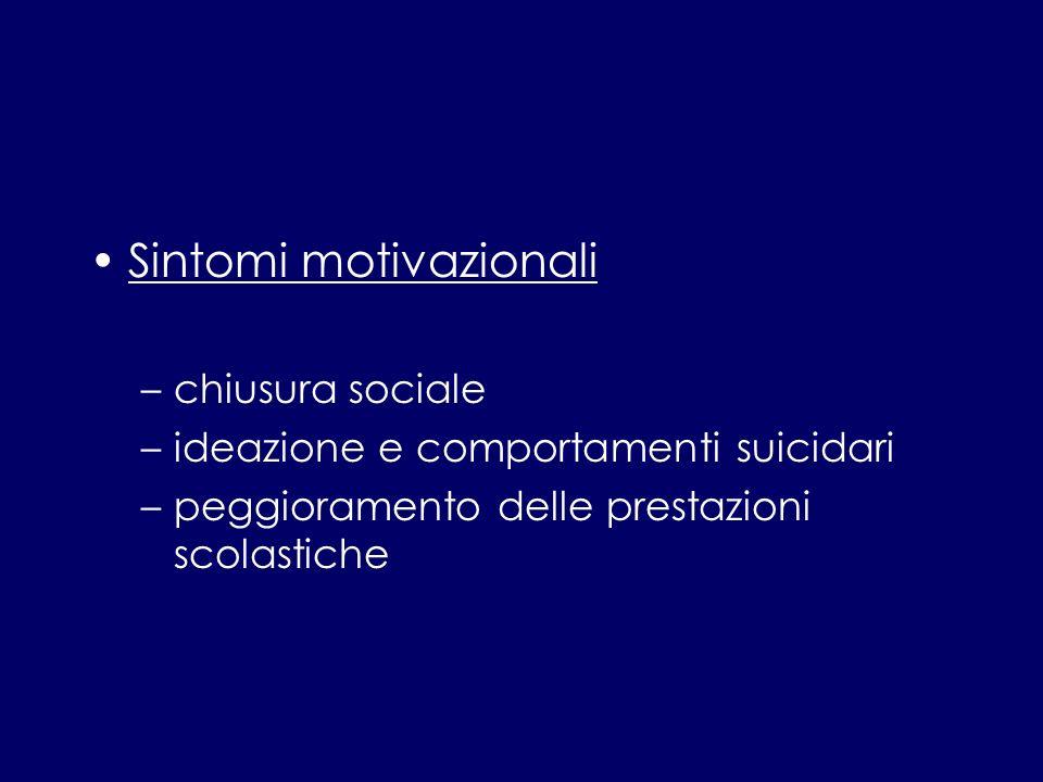 Sintomi motivazionali