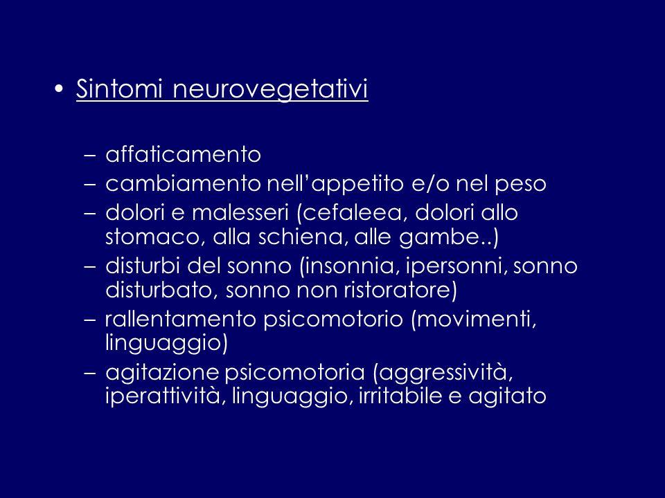 Sintomi neurovegetativi