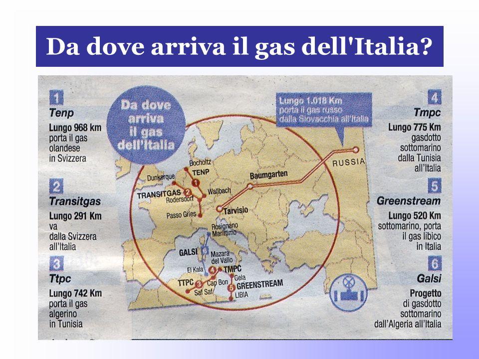 Da dove arriva il gas dell Italia