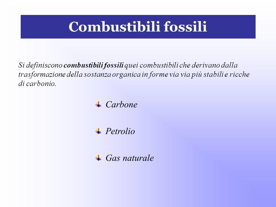 Combustibili fossili Carbone Petrolio Gas naturale