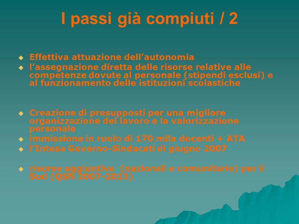 I passi già compiuti / 2 Effettiva attuazione dell'autonomia