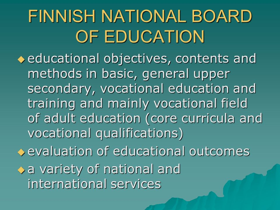 FINNISH NATIONAL BOARD OF EDUCATION