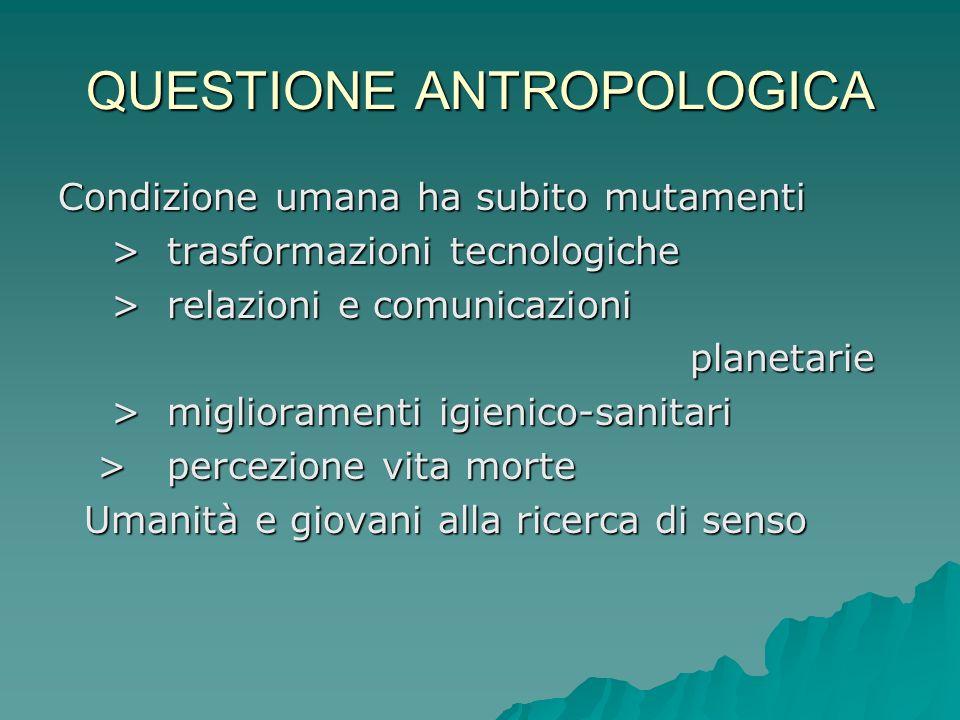QUESTIONE ANTROPOLOGICA