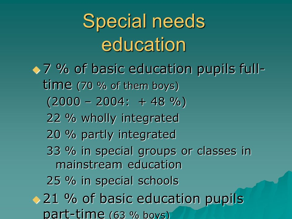 Special needs education