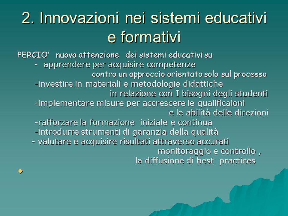2. Innovazioni nei sistemi educativi e formativi