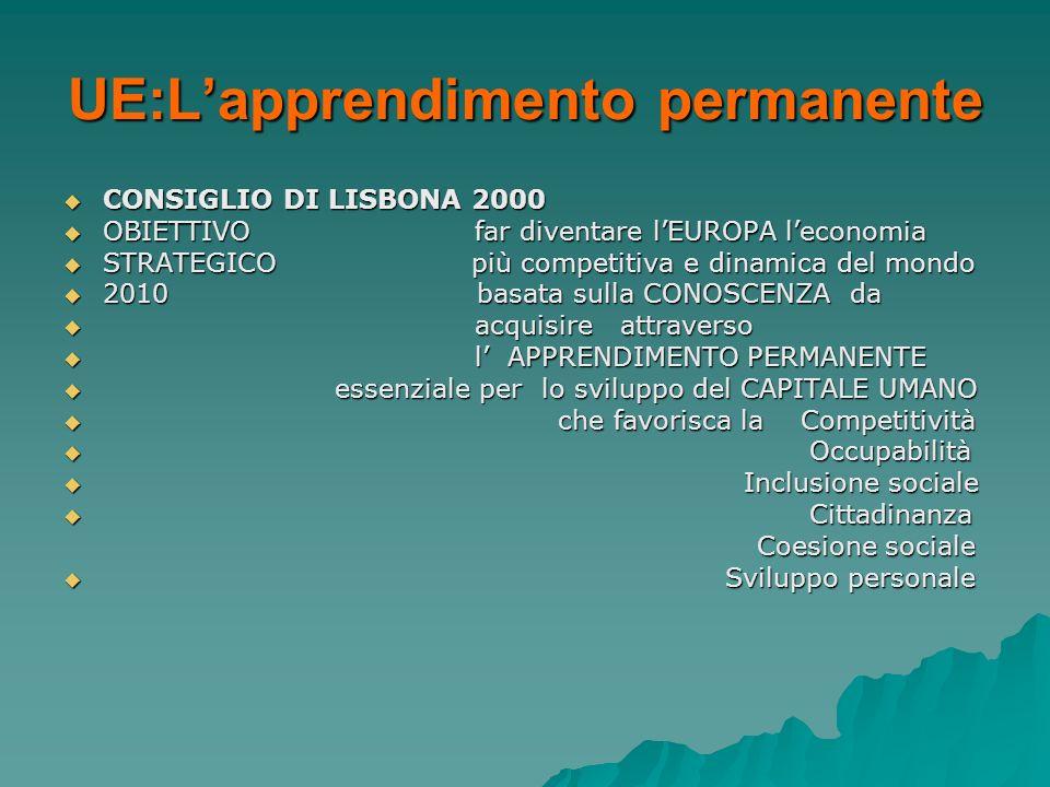 UE:L'apprendimento permanente