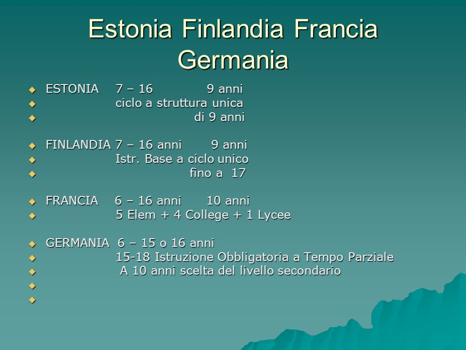 Estonia Finlandia Francia Germania