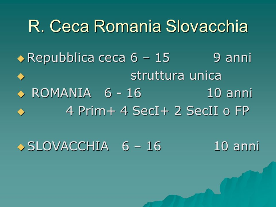 R. Ceca Romania Slovacchia