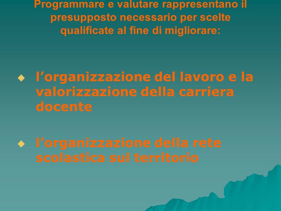 l'organizzazione del lavoro e la valorizzazione della carriera docente