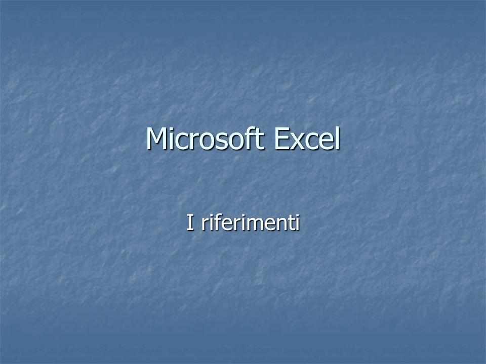 Microsoft Excel I riferimenti