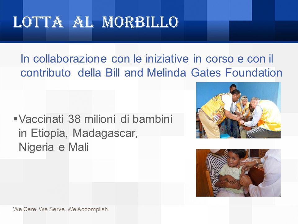 LOTTA AL MORBILLO In collaborazione con le iniziative in corso e con il contributo della Bill and Melinda Gates Foundation.