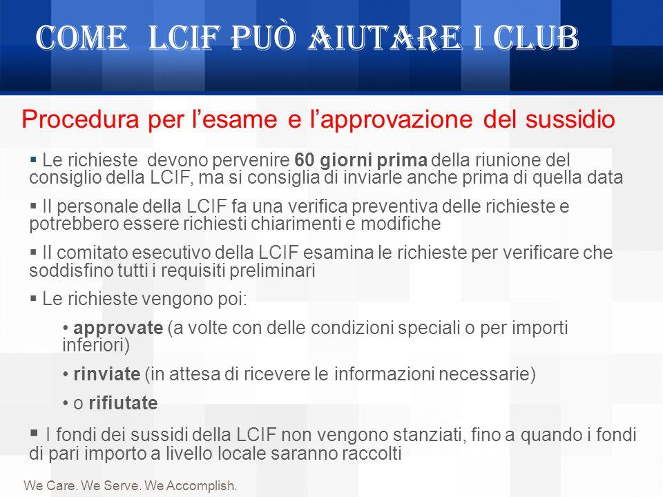 Come LCIF può aiutare i Club