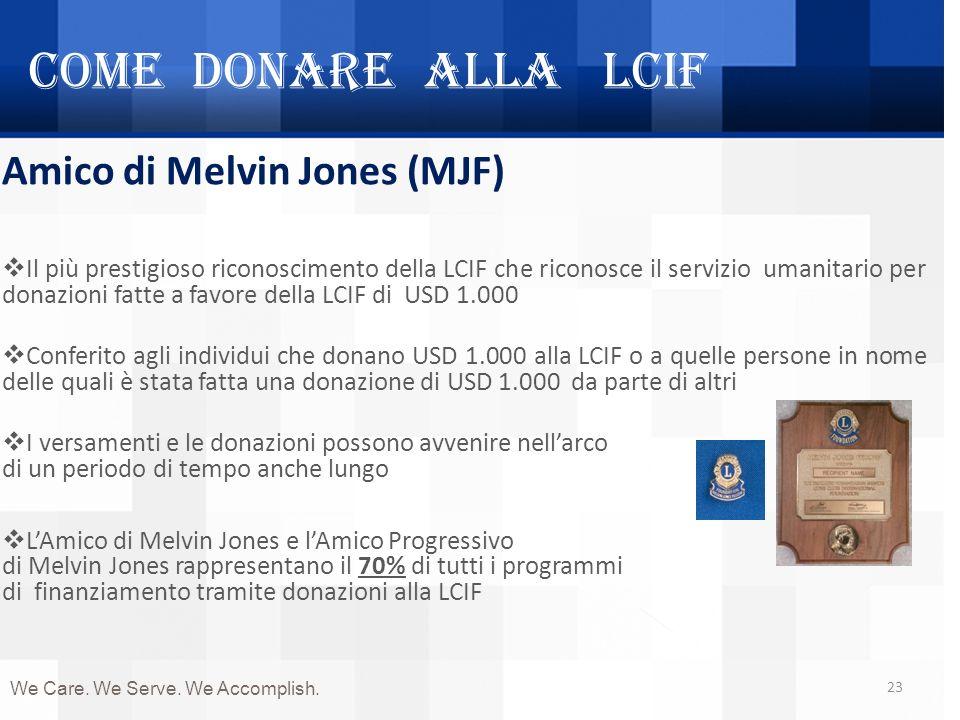 Come donare alla LCIF Amico di Melvin Jones (MJF)