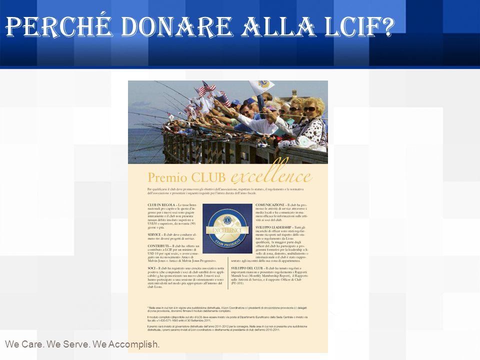 Perché donare alla LCIF