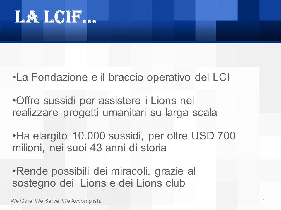 La LCIF… La Fondazione e il braccio operativo del LCI