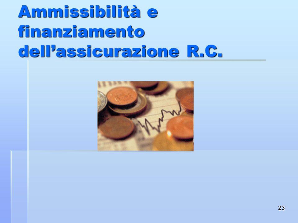 Ammissibilità e finanziamento dell'assicurazione R.C.
