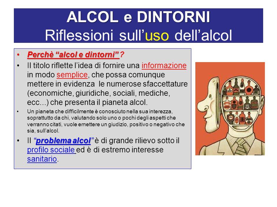 ALCOL e DINTORNI Riflessioni sull'uso dell'alcol