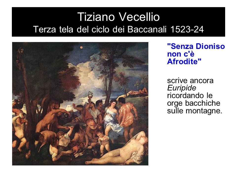 Tiziano Vecellio Terza tela del ciclo dei Baccanali 1523-24