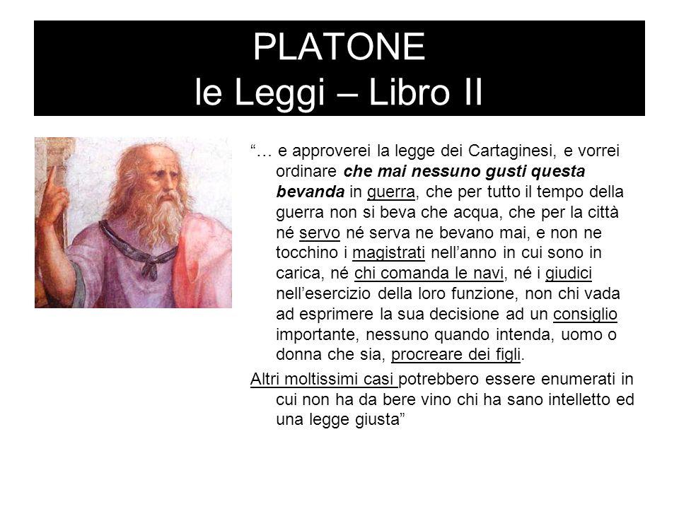 PLATONE le Leggi – Libro II