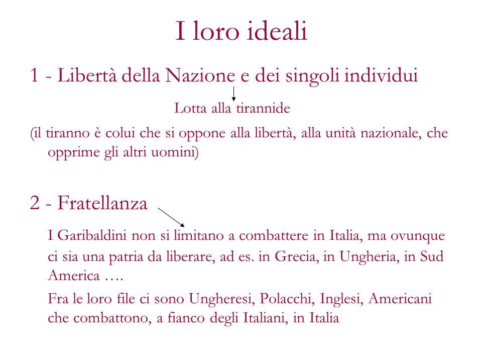 I loro ideali 1 - Libertà della Nazione e dei singoli individui