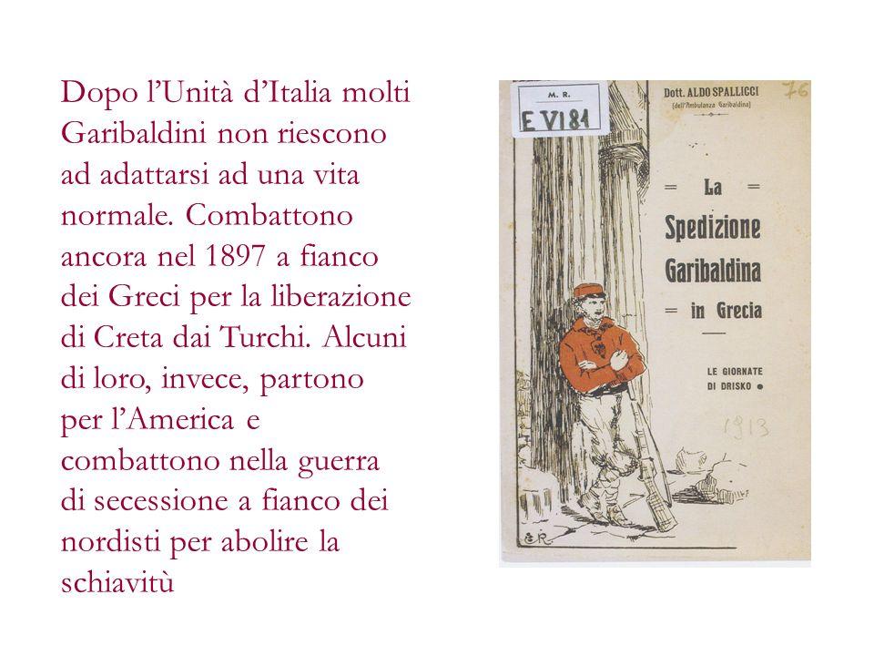 Dopo l'Unità d'Italia molti Garibaldini non riescono ad adattarsi ad una vita normale.