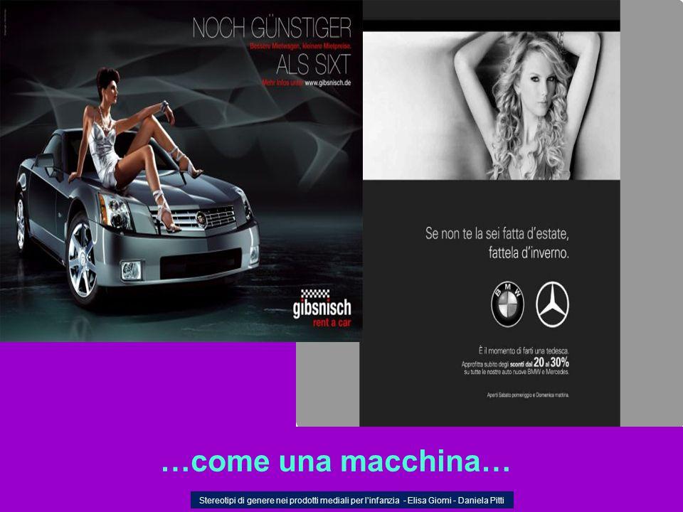 …come una macchina…Stereotipi di genere nei prodotti mediali per l'infanzia - Elisa Giomi - Daniela Pitti.