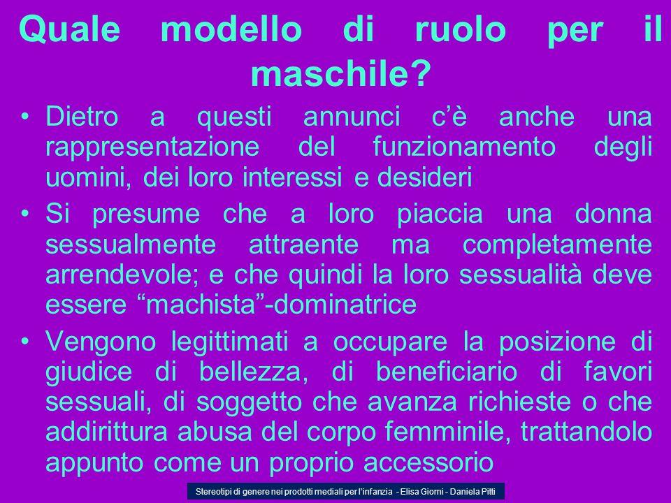 Quale modello di ruolo per il maschile