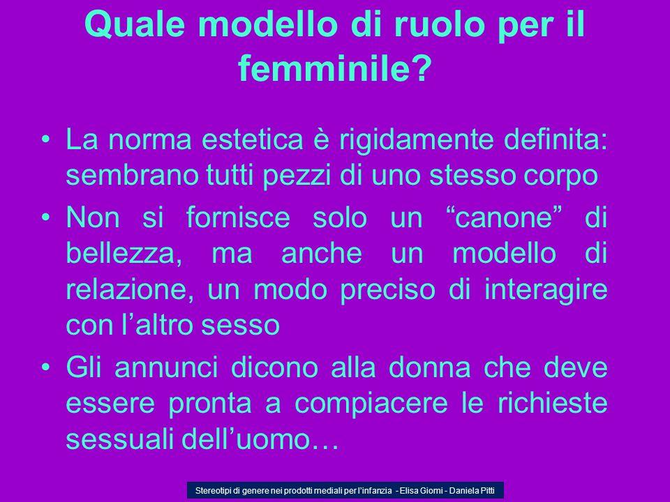 Quale modello di ruolo per il femminile