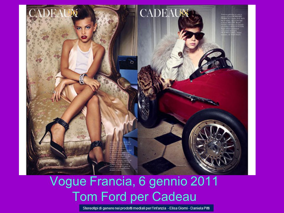 Vogue Francia, 6 gennio 2011 Tom Ford per Cadeau