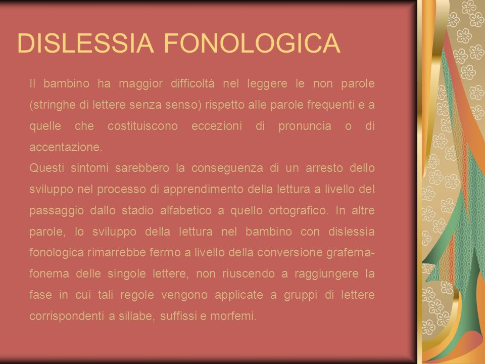 DISLESSIA FONOLOGICA