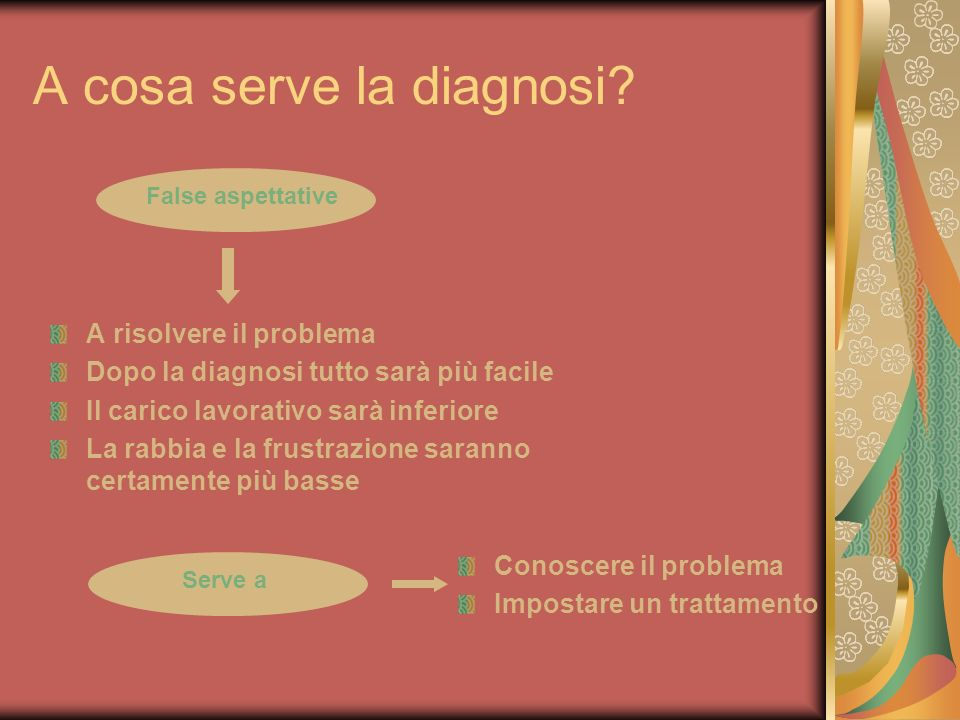 A cosa serve la diagnosi